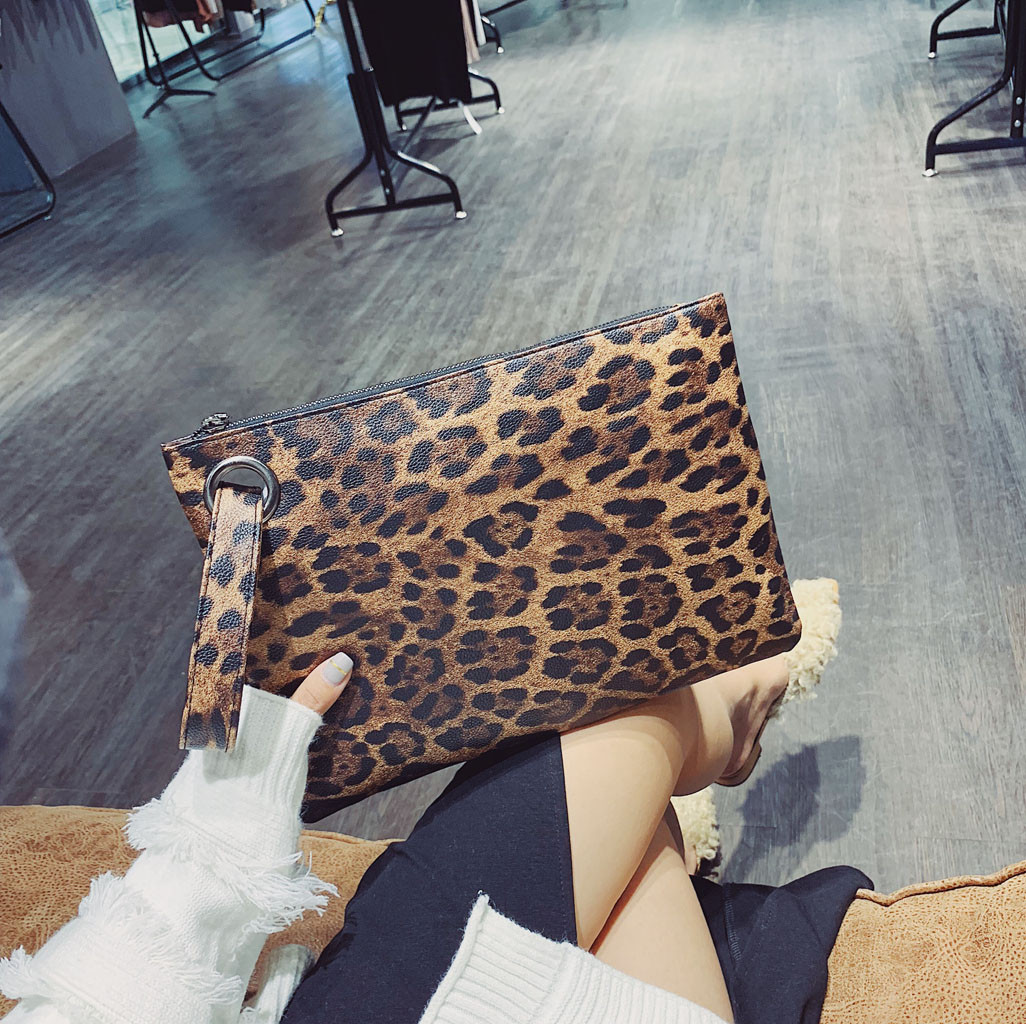 Women Leopard Handbag clutch Bag Vintage zipper Messenger Versatile Retro Simple Crossbody Bag sac main femme torebki damskie er(China)