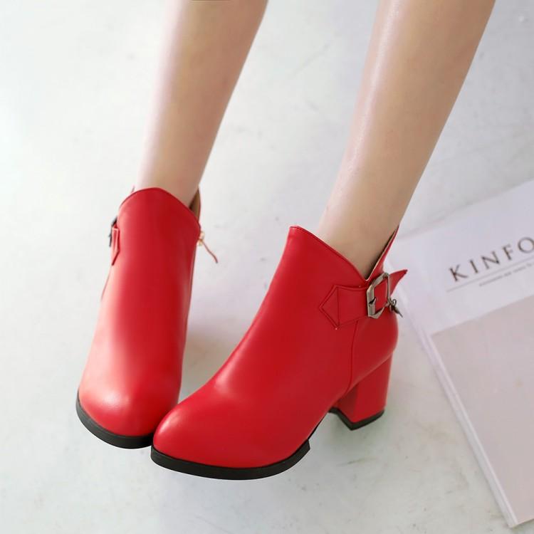 Popular White Short Heel Ankle Boots-Buy Cheap White Short Heel