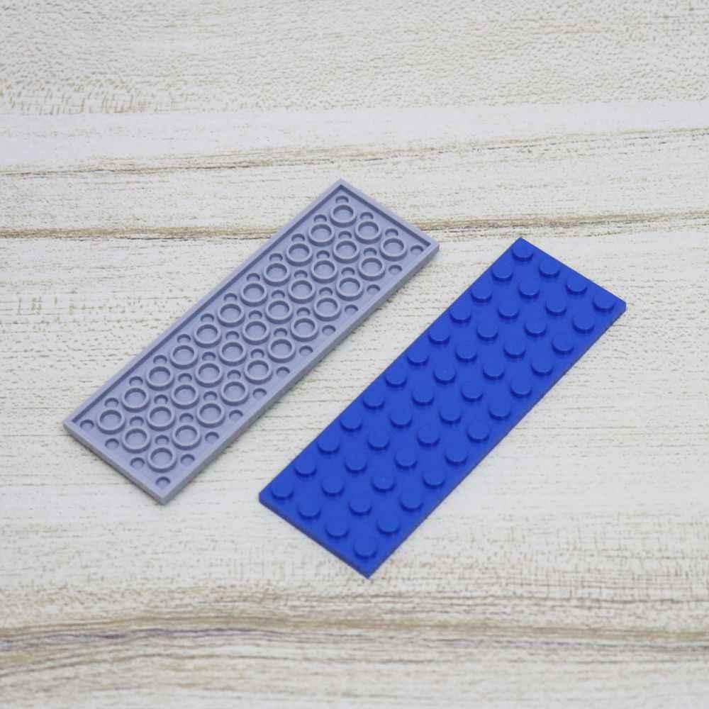 Массовая продажа 50 шт. пластина 4X12 Короткие строительные блоки модели Сделай Сам собрать с Legoes 3029 WW2 военные блоки аксессуары части