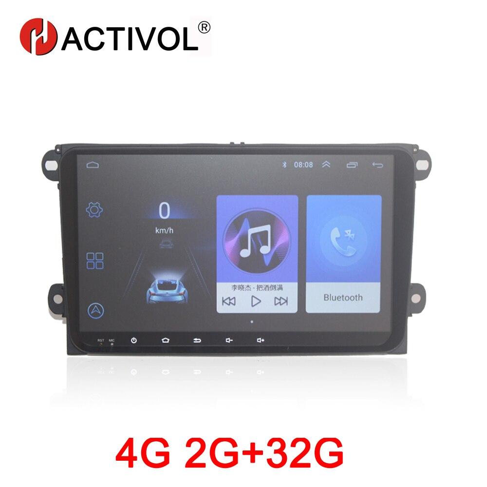 Autoradio HACTIVOL 2G + 32G Android 8.1 pour Volkswagen pour Skoda/Seat/Passat b7/POLO/GOLF 5 6 voiture lecteur dvd gps accessoire de voiture