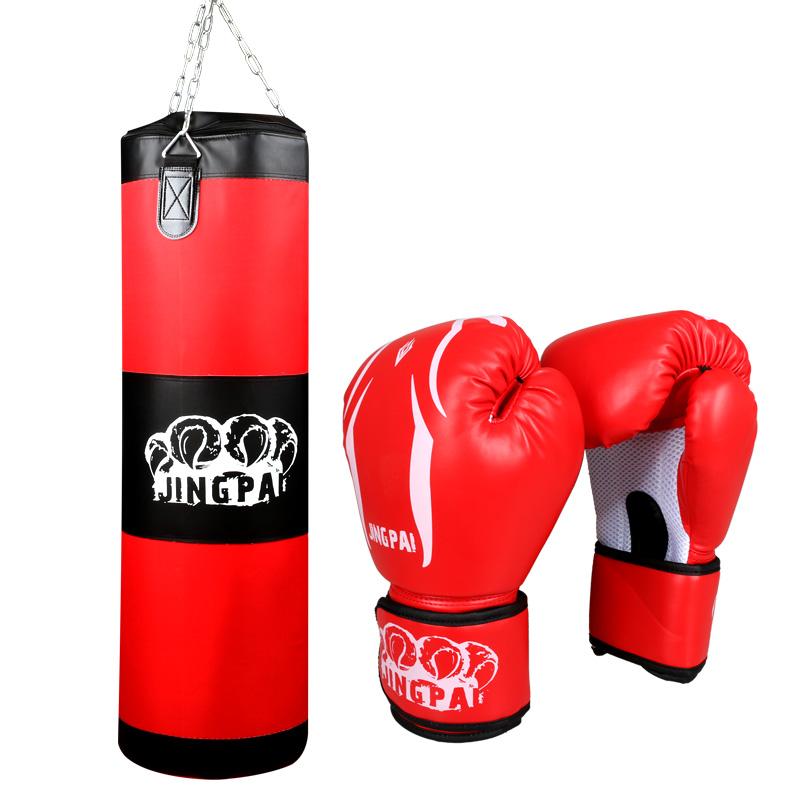 Hot 100cm Oxford boxing sandbag PU leather boxing gloves sand punching bag Grappling training hanging sandbag punch bag (empty)