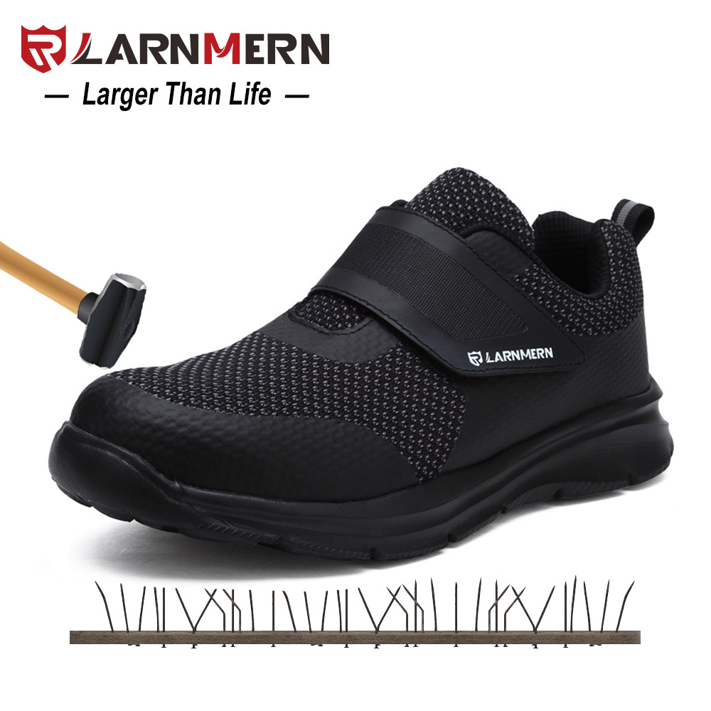 Larnmern Males's Security Footwear Metal Toe Building Protecting Footwear Light-weight 3D Shockproof Work Sneaker Footwear For Males
