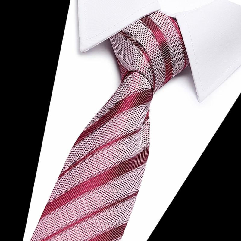 Good quality Solid red wine Men Tie 100 Silk Jacquard Woven Necktie Gravata Corbatas Tie Set for Men Formal Wedding Party in Men 39 s Ties amp Handkerchiefs from Apparel Accessories