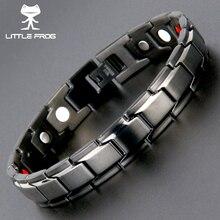 Маленькая лягушка, Прямая поставка, оздоровительный германий, магнитные браслеты, браслеты, 316L, нержавеющая сталь, очаровательный браслет для мужчин, ювелирные изделия