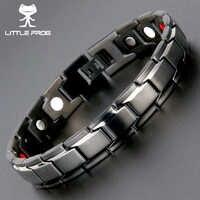 Petite grenouille Drop-Shipping santé Germanium Bracelets magnétiques Bracelets en acier inoxydable 316L bracelet à breloques pour hommes bijoux