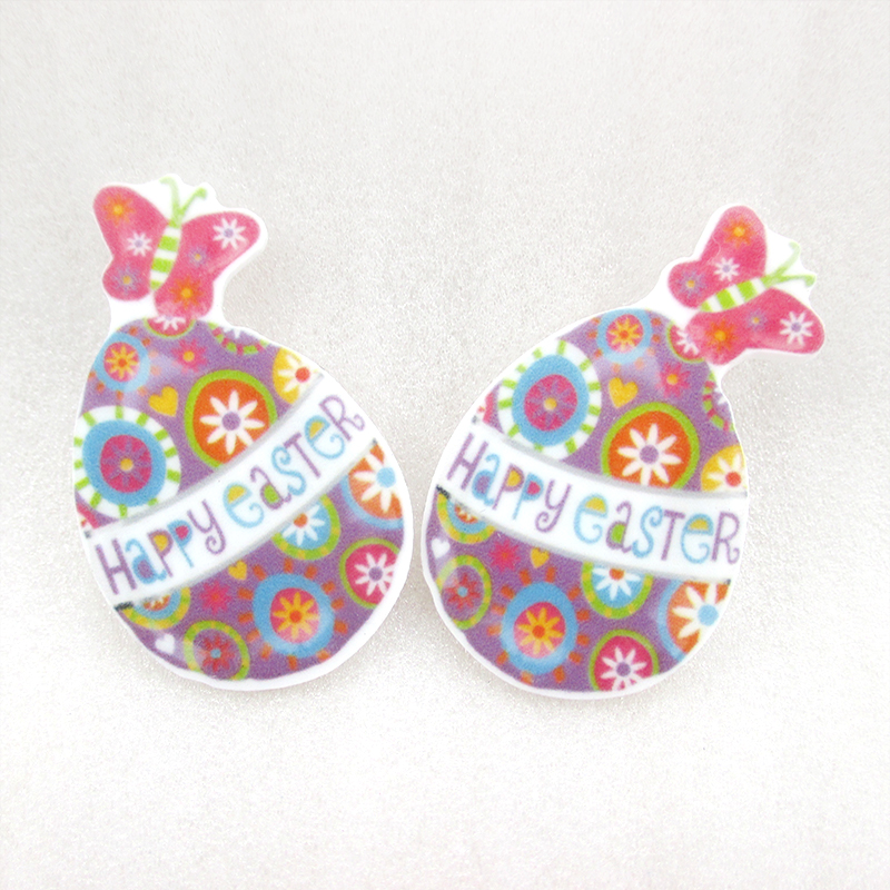 David accessories happy easter rabbit chicken acrylic flat for Decoration pieces from waste material