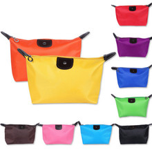 500pcs /lot Colorful Solid Toiletry Bag Cosmetic Bags Necess