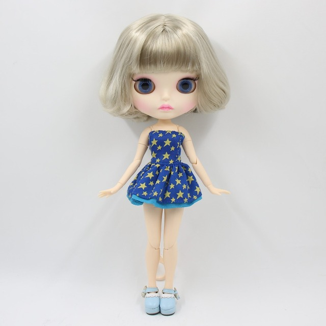 factory blyth doll bjd combination doll with clothes shoes or new face naked doll 1/6 30cm 1