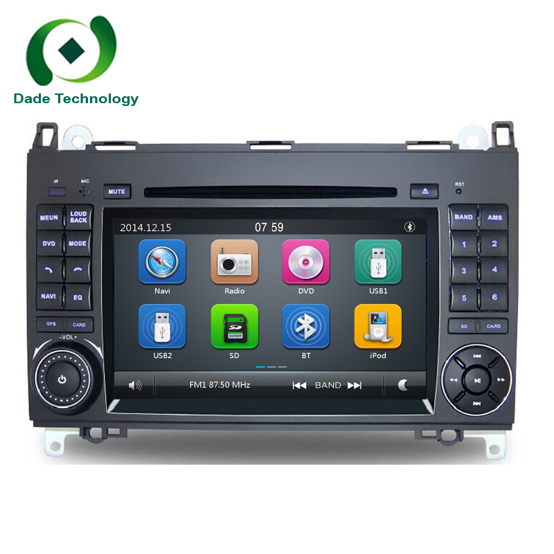 2 din auto dvd gps navigation f r mercedes benz sprinter. Black Bedroom Furniture Sets. Home Design Ideas