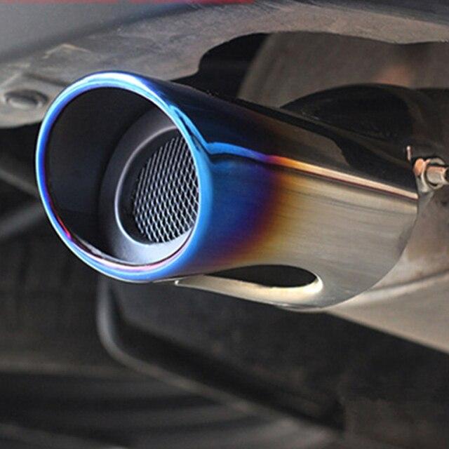 ZD silencieux déchappement de voiture Ford Lada Honda | En acier inoxydable chromé, tuyau déchappement de voiture pour Ford Lada Honda Renault pour accessoires universels de voiture