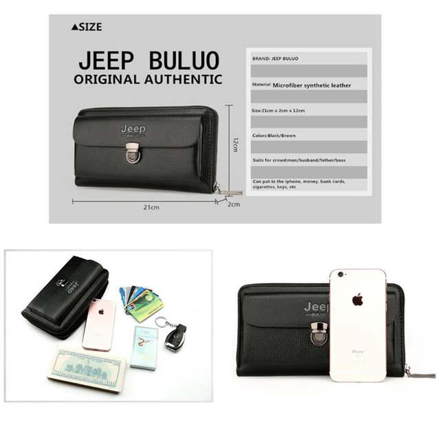 a363b291ef US $19.07 47% OFF|JEEP BULUO Men Wallets 2018 New Casual Wallet Men Purse  Clutch Bag Microfiber Leather Wallet Long Design Handbag For Man 1688-in ...