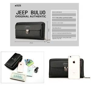 Image 2 - JEEPBULUO marque hommes portefeuilles nouveau décontracté unisexe portefeuille sac à main pochette grande capacité en cuir fendu portefeuille Long sac à main pour hommes
