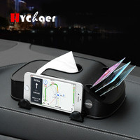 Car Tissue Box Automobile Napkin Card Holder Container Mobile Phone Bracket Car Seat Box Auto Accessories Car Styling