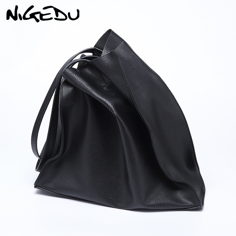 Designer Women Handbag Large Capacity Black Shopping Bags Quality PU Leather Women's Big Totes Casual Female Shoulder Bags Bolsa