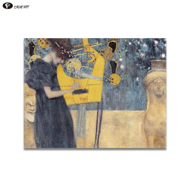 CHENFART Home Decor Wall Art Gustav Klimt Music Abstract Oil ...