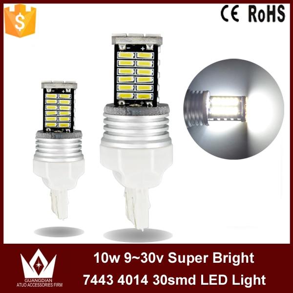 ФОТО Guang Dian marker lamp trunk bulb rear light reversing lamp parking light stop light 7443 t20 800lm w21/5w 10pcs 50pcs 100pcs