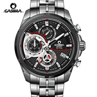 Luxury Brand CASIMA Sport Men Watch Reloj Hombre Steel Band Men Quartz Watches Luminous Waterproof 100m
