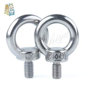 Screw 10pcs M860 M8 x 60 Stainless Steel Eye Bolt Screw,Eye Nuts and Bolts fasterner Hardware,Stud Articulated Anchor Bolt