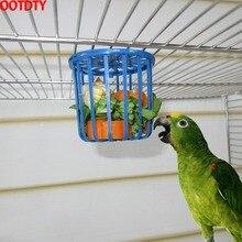 OOTDTY кормушка для попугаев клетка для фруктов Подставка для овощей клетка подвесная Корзина Контейнер для домашних животных
