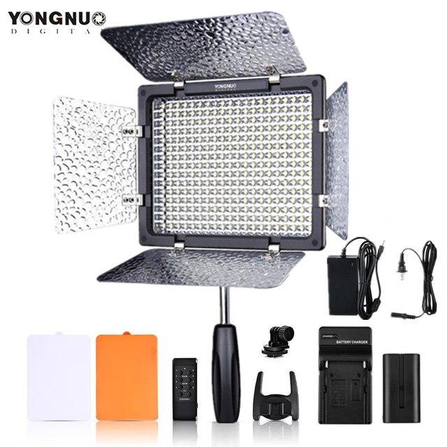 YONGNUO YN300III YN300 III YN 300III 3200k 5500K CRI95 foto de cámara luz LED para vídeo opcional con adaptador de corriente AC + KIT de batería