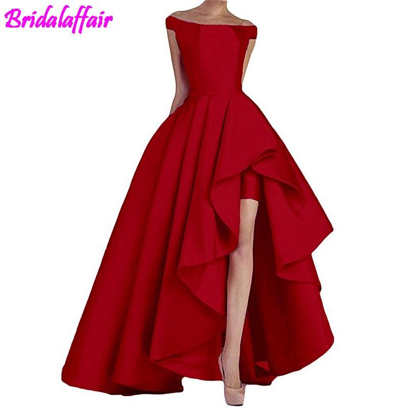 2018 Formal   Dress   Off Shoulder vestidos de fiesta Women   Dress   Evening   Dresses     Prom     Dresses   High Low Formal Gowns robe de soiree