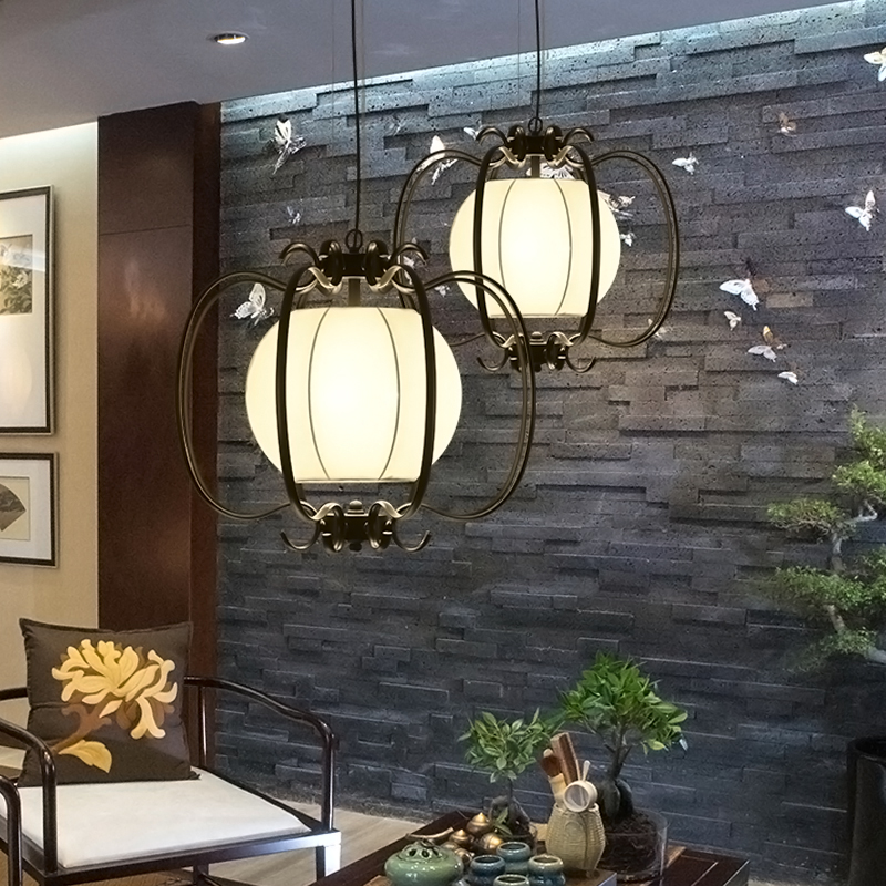 Chinese style iron lantern pendant lamps living room lamp tea room art dining lamp lanterns pendant lights ZA6284 ZL36 YM southeast asia chinese style wooden veneer pendant lights living room restaurant lamp dining room lights