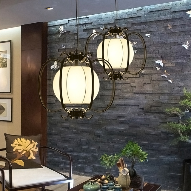 Chinese stijl ijzeren lantaarn hanger lampen woonkamer lamp thee ...