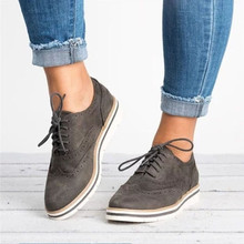 5 Colors Plus Size 35-43 New Fashion Womens Shoes Lace Up Perforated Oxfords British Style Casual