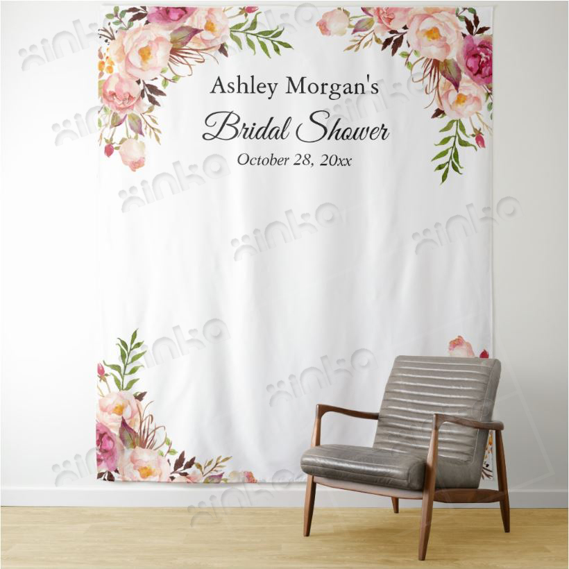 Customs Wedding Welcome Sign, Wedding Photo Backdrop,Personalized Wedding Photography Backdrop, Floral Photo Booth Backdrop
