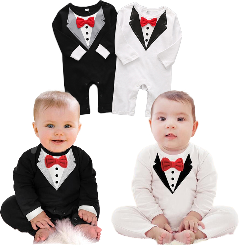 Gentleman 2018 Newborn Boy 100% Cotton Long Sleeve Bebes Boys Romper For Baby Onesie Baby Knitted Clothes Toddler Jumpsuit 2Yrs