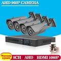 Home security 8ch AHD 1080N 1.3MP HD Câmera de vídeo de CFTV vigilância gravador dvr HDMI 1080 P DVR 8 canais para monitoramento sistema