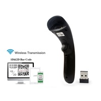 2.4G Wireless Bar Code Barcode Scanner QR Code 1D&2D Bar Code Reader for Supermarkets/Stores