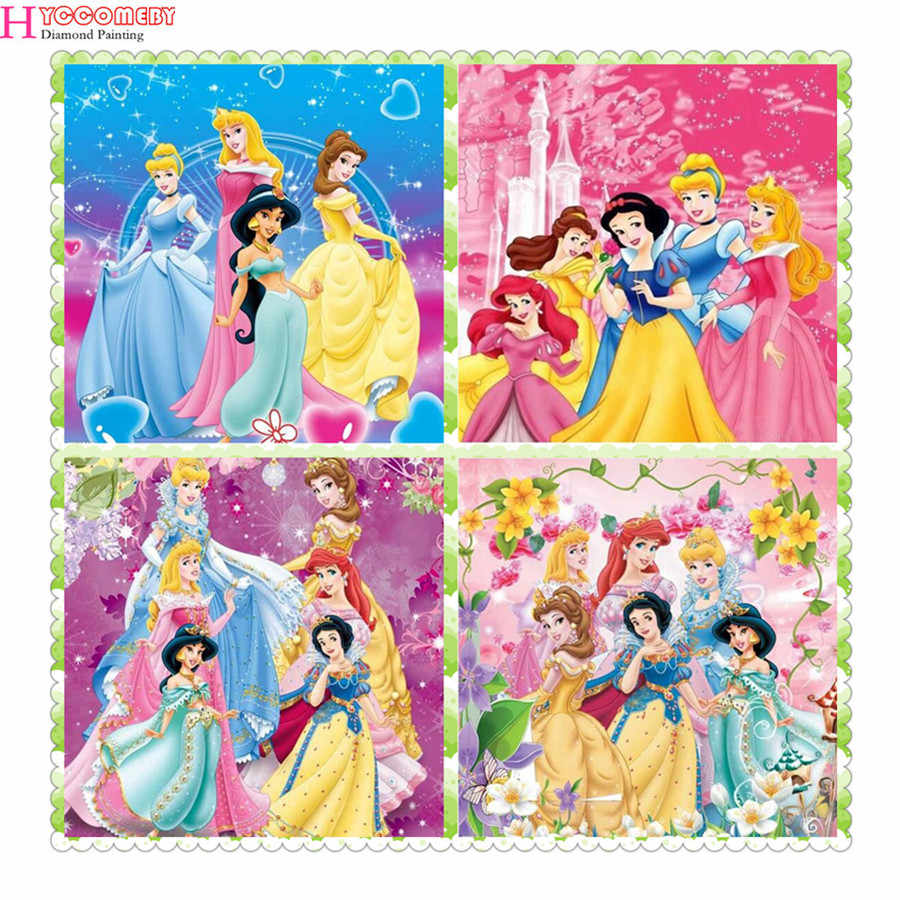 5d diy diamant malerei cartoon schnee prinzessin diamant stickerei voll platz kreuz stich strass mosaik