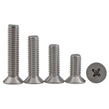 100pcs 304 stainless steel M1 M1.2 M1.4 M1.6 M2 M2.5 countersunk head screw 3mm 4mm 5mm 6mm 8mm 10mm 12mm 16mm 18mm 20mm 60mm(China)