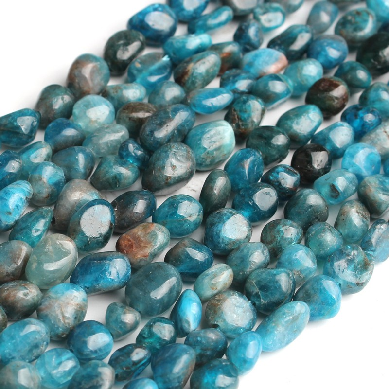 Natural Stone Beads 6-8mm Irregular Blue Apatite Stone Beads For Jewelry Making Bracelet Necklace 15inches