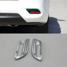 ABS Auto Styling Bright Style rear foglight Cover Trim 2 PCS / Set For Nissan sentra 2016