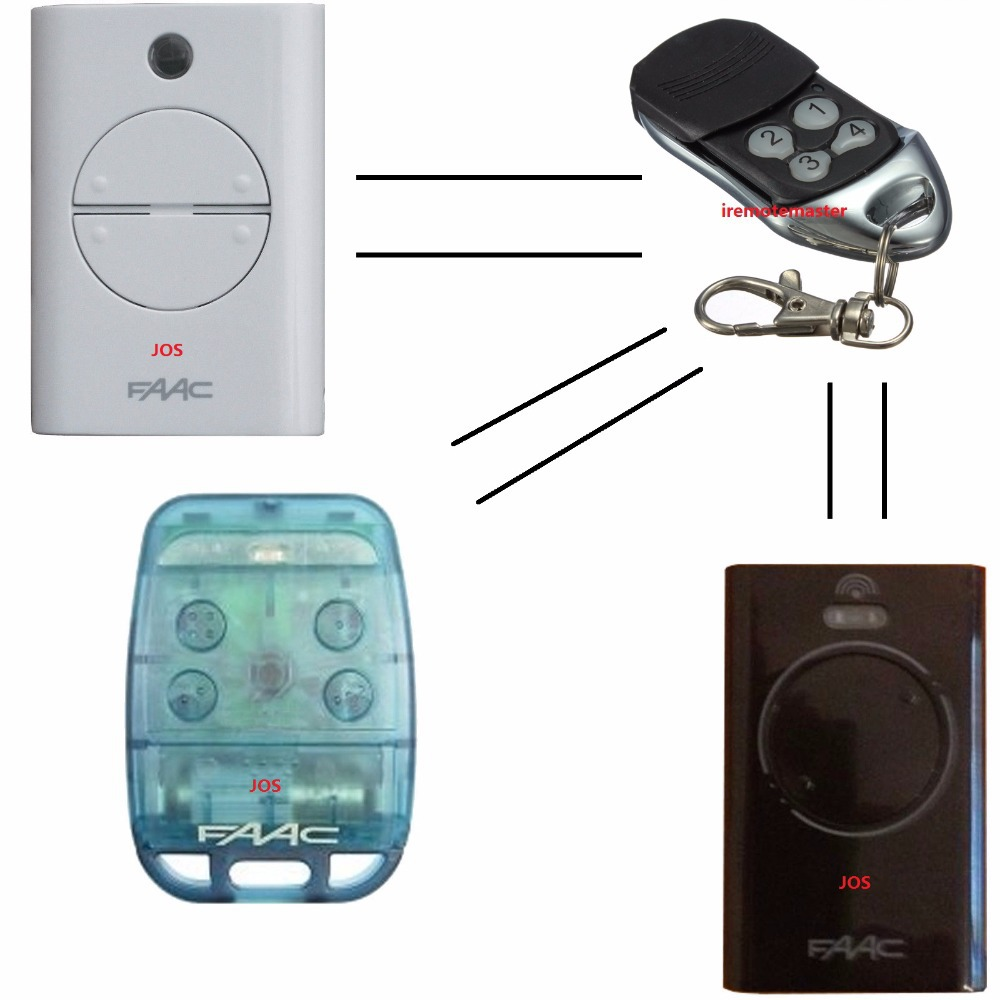 Factory price for FAAC REMOTE replacement  replcae model XT2/XT4/TE4433H/787452/433LC