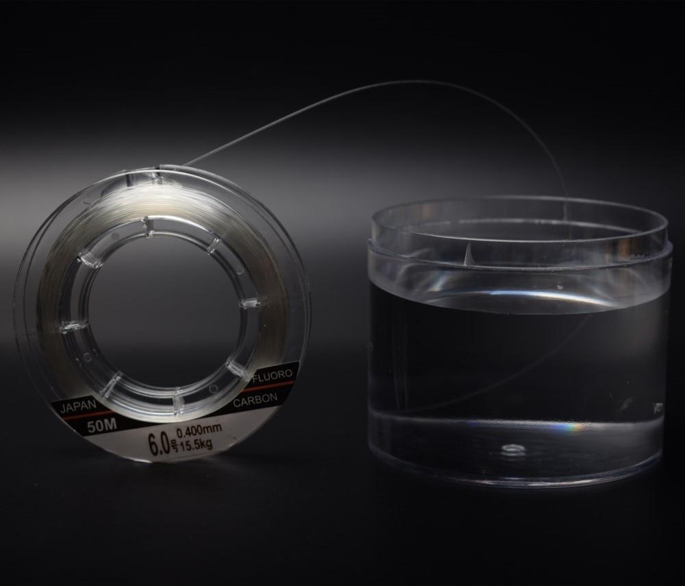 Mavllos Full Sink Línea de Pesca de Fluorocarbono 50m 100m 100% - Pescando - foto 3