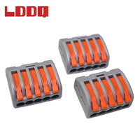 LDDQ 100pcs PCT215 Universal Compact Wire Wiring Connector 5pin Conductor Terminal Block Cable Connector with Level AWG 28 12
