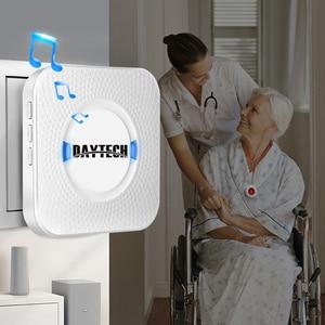 Image 2 - DAYTECH Caregiver Cercapersone Senza Fili Assistenza Domiciliare Alert Sistema di Chiamata di Chiamata SOS Bottoni Per Anziani Paziente Incinta Disabili (CC01 01A)