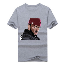 2017 The Fashion Rapper 50 Cent Mens T Shirt Custom Men's 100% Cotton T-Shirt 100% cotton hip hop