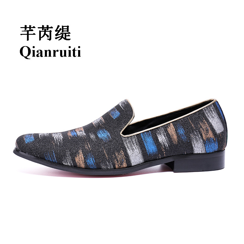 Qianruiti Men Canvas Shoes Mixed Color Slip-on Loafers Chaussure Homme Men Casual Shoes Plus Size EU39-EU46 2016 canvas shoes men casual shoes men high top chaussure homme valentine to waterproof shoes summer boots 4 color unisex d084