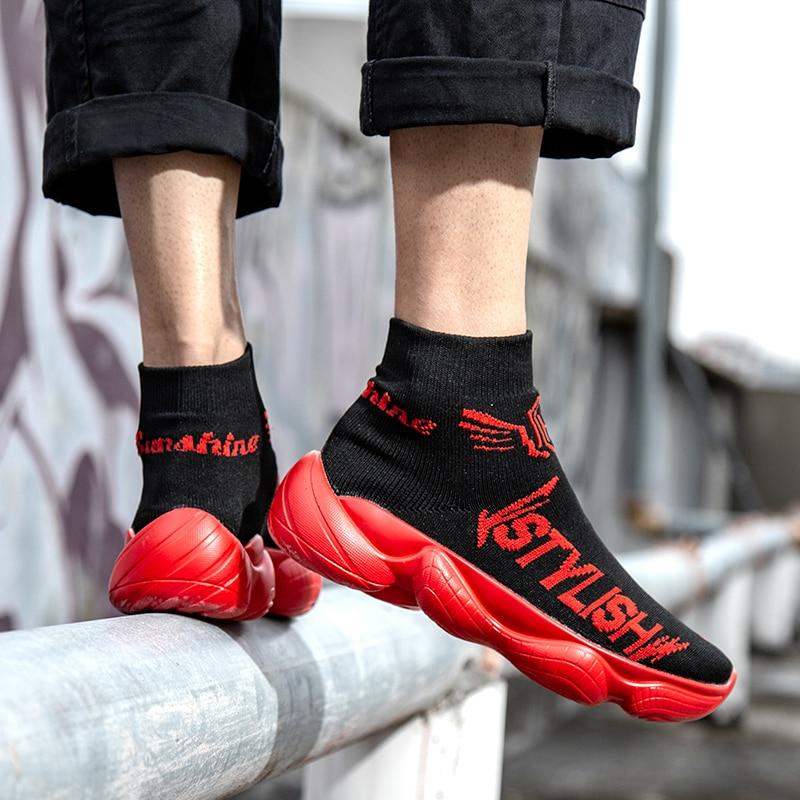 Pour Sneakers Zapatos Air Marque En Vente Chaussettes Rouge Qualité Chaussures blanc Hommes jaune Chaude Haute Confortables Plein De Occasionnelles Marche Mode aWSXgqYT