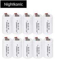 Nightkonic SC battery 2200mAh rechargeable subc battery replacement 1 2 v with tab for makita for