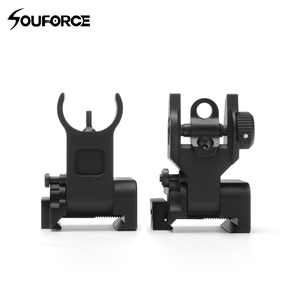 1pair Flip up Front Rear Iron Sight Set Dual Half Moon Shape BUIS Sights fit 20mm Mount of Hunting Gun Rifle Airsoft Accessory throttle hand grips brake levers throttle housing set for goped gas scooter 43cc 47cc 49cc minimoto bicycle parts