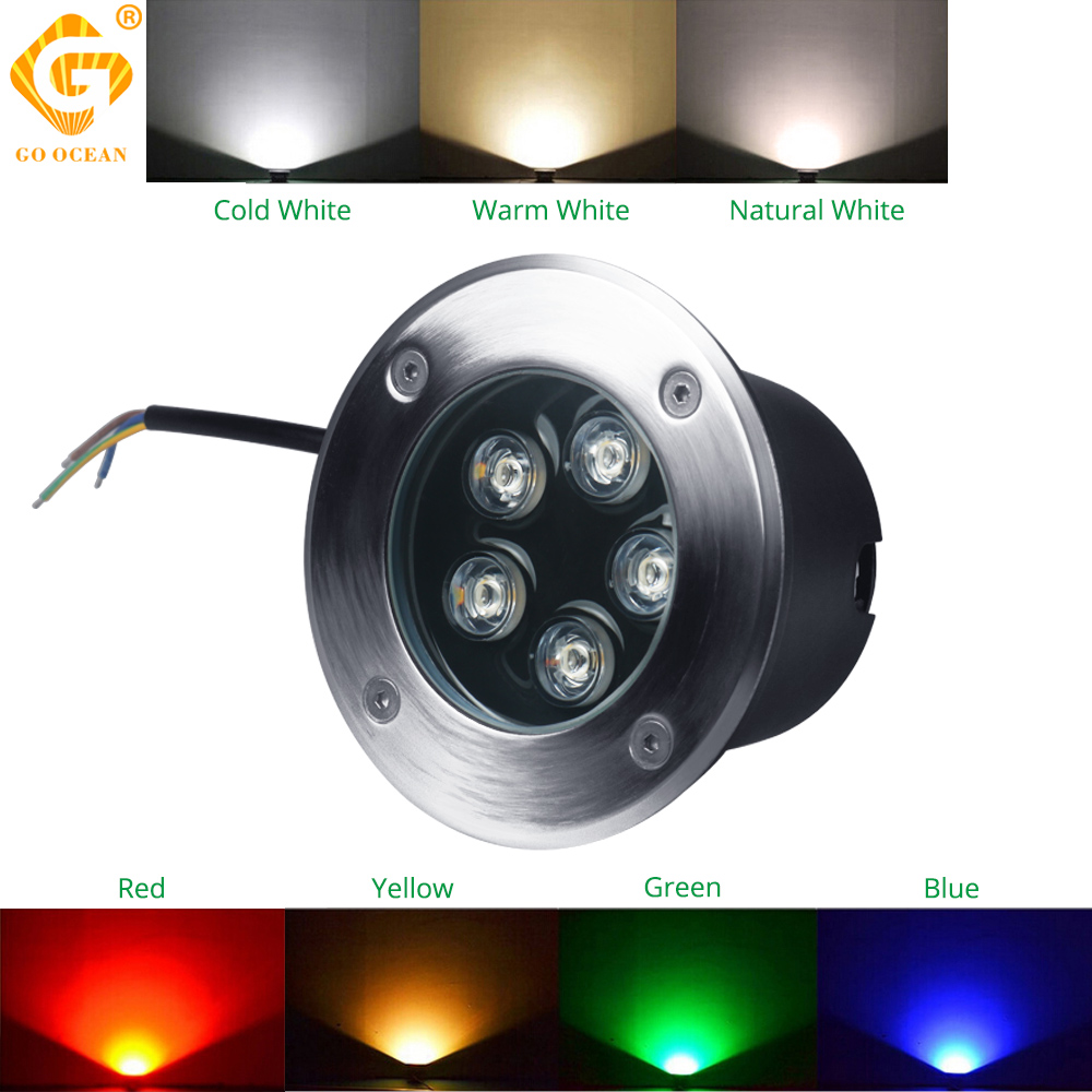 Led Lamps 2019 Waterproof Led Light Garden Underground 2w 4w Ip65 Outdoor Buried Garden Path Spot Recessed Inground Lighting Lights & Lighting