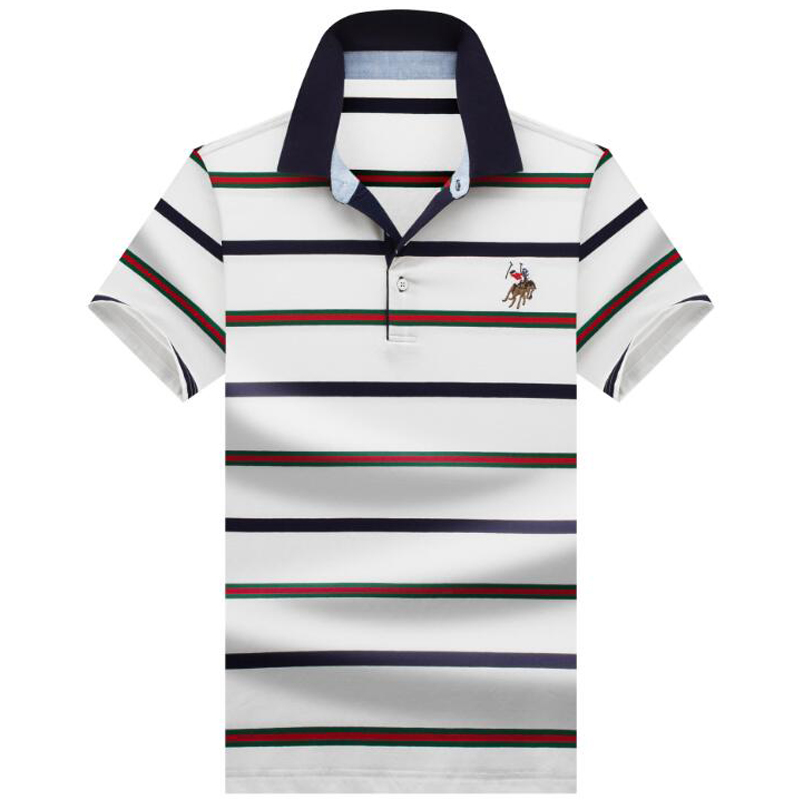 be812fda679 2019 nuevos polos de alta calidad de marca de algodón para hombre polo  Casual a rayas camisa sólida polo para hombre polos de manga corta para  hombre