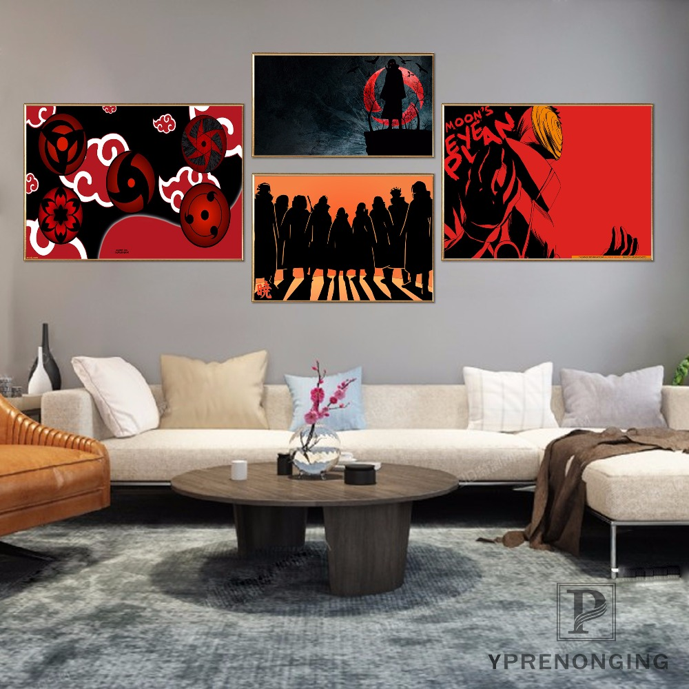 Custom Akatsuki <font><b>Logo</b></font> <font><b>Poster</b></font> Home Decor Canvas Printing Silk Fabric Print Wall <font><b>Poster</b></font> No Frame 180317@49 image