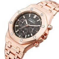 Men watch steel mens watches top brand luxury casual quartz wristwatches fashion analog montre homme business male