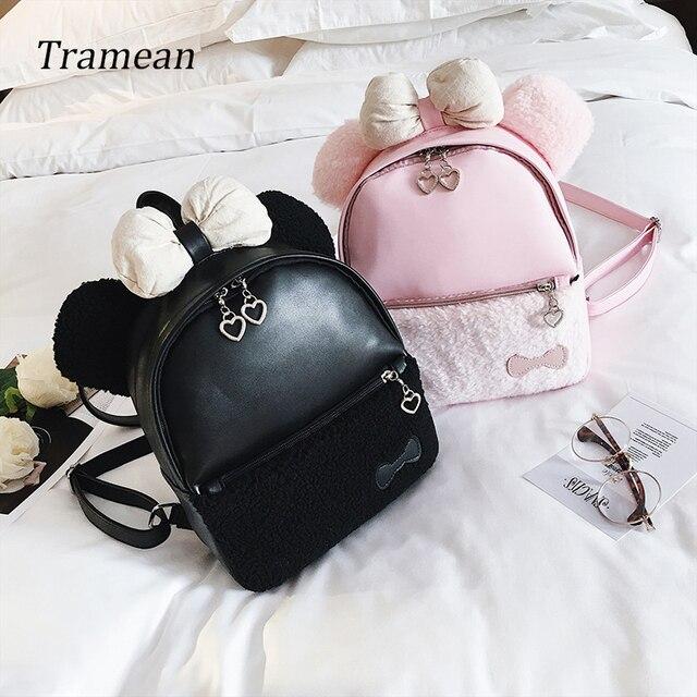 9686519ee1 2018 Women Backpack Cute Bear PU Children backpack Mini Backpack Women Back  Pack Backpacks Teenage Girls Travel Bag z30